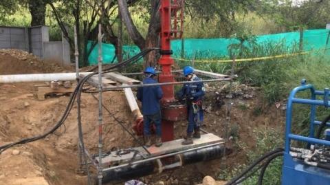 Finalizados trabajos de reubicación de gasoducto, en Portal de Girón