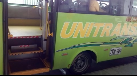 Bus del TPC con rampa movilizará personas con discapacidad