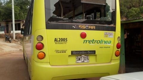 Nuevo ataque contra buses del SITM