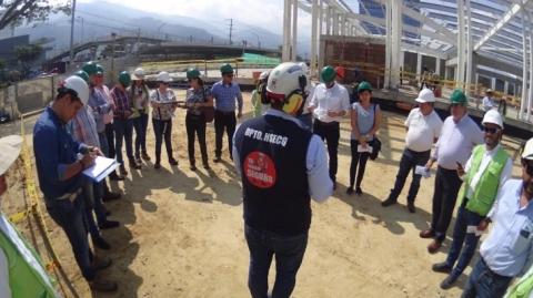 Misión del Ministerio de Transporte y Banco Mundial inspeccionó avance de Portales de Metrolínea