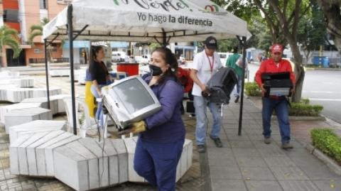 El SITM Metrolínea se suma a la jornada de recolección de residuos posconsumo