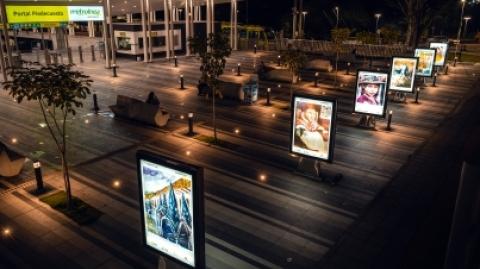 Usuarios del SITM Metrolínea disfrutan de exposición de arte en Piedecuesta