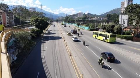 Cierre de la autopista por inicio de obras de Metrolínea en el sector 'PQP'
