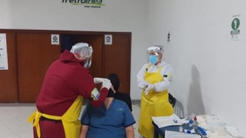 Estrategia PRASS llegó a Metrolínea para frenar el virus