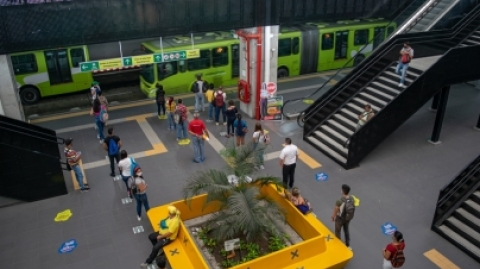 El SITM Metrolínea mantiene medidas de bioseguridad en Portal Piedecuesta