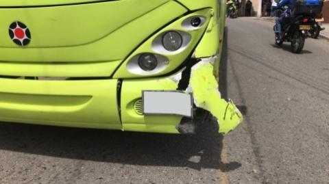 Sobre accidente en el que se vio involucrado un bus del SITM Metrolínea